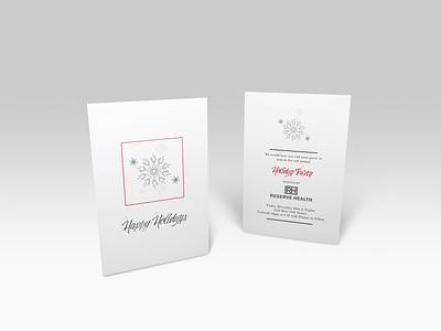 Simple Holiday Invitation print print design graphic design invitation doctors christmas holiday illustrator sketchbook photoshop