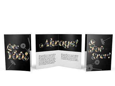 Love You Card design w/Freebie assets graphic design love pattern flower floral design print cards