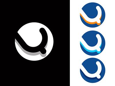 LQ logo modern clean corporate branding corporate identity blue technology monogram letter mark monogram logo monogram brand identity logo branding design icon