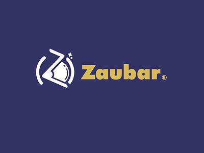 zaubar logo illustraion time travel travel space cosmonaut astronaut augmented reality brand identity logo branding icon