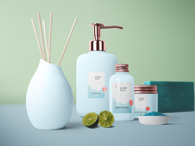 Back to Basics branding/packaging skincare illustration blue seahorse organic beauty cosmetics nature icon logo packaging brand identity branding