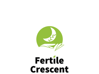 Fertile Crescent logo branding plant care leaf abstact icon design illustration logo environment green