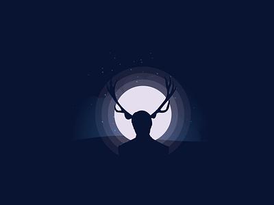 EAT THE RUDE design render moon night artwork hannibal fanart vector illustration