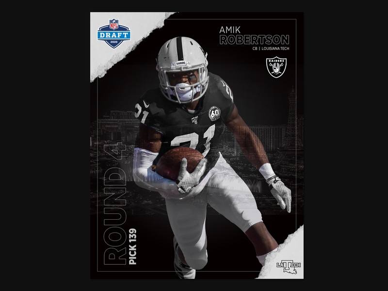 Amik Roberston NFL Jersey Swap jersey swap creative nfl raiders sports design sports branding smsports socialmedia social media design design sports football instagram graphic  design branding photoshop