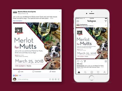 Merlot for Mutts Social Media Post
