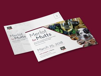 Merlot for Mutts Postcard