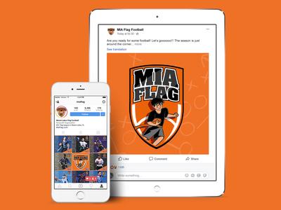 Miami Lakes Flag Football Social Media Campaign