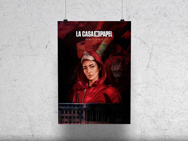 La Casa De Papel poster design movie poster flyer poster art casa de papel poster