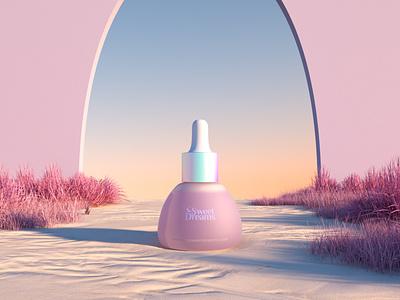 Sweet Dreams Tincture branding packagingdesign packaging 3d art product render 3d