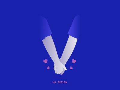V - Vibe creative logo heart logo symbol heart gradient vector typography minimal visual design illustration 36daysoftype22 love vibe 36daysoftype