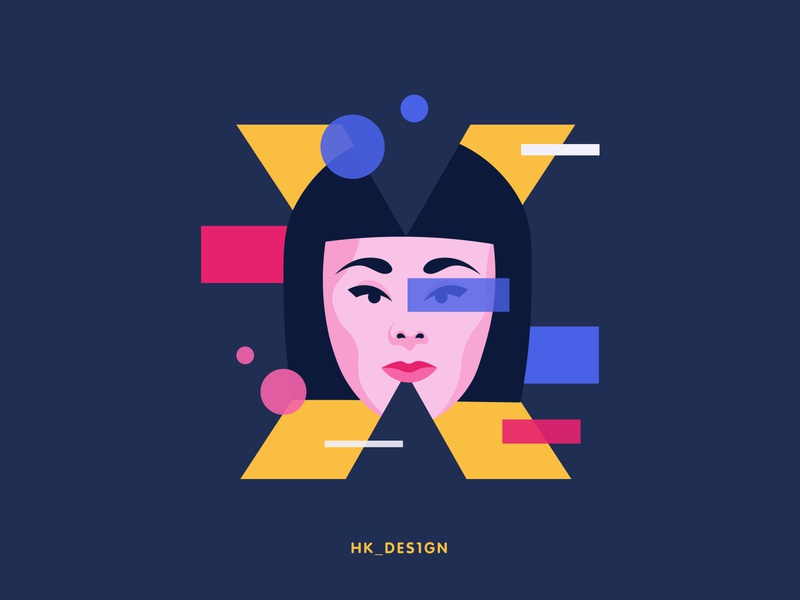 X - Xeona shapes xeon character scifi girl typography visual design flat vector creative illustration minimal 36daysoftype24 36daysoftype