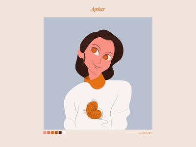 Amber branding type expression character vector ui typography visual design illustration creative minimal palette warm amber