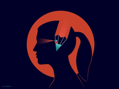 Creative Mind vision gradient creative design mindshot vector flat silhouette face idea visual design creative minimal illustration creativity