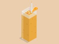 Orange Smoothie - Isometric
