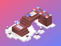 Chocolate Island - Isometric