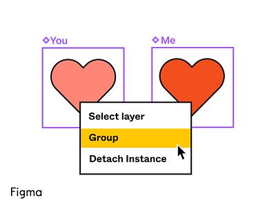 Figma Valentine's Pun o' Matic valentines day figma figma design graphic design art illustration
