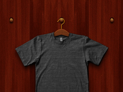 Hanger hanger wood gold shirt