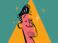 Kyle Parrish midcentury vintage vector rogie king design character retro art illustration