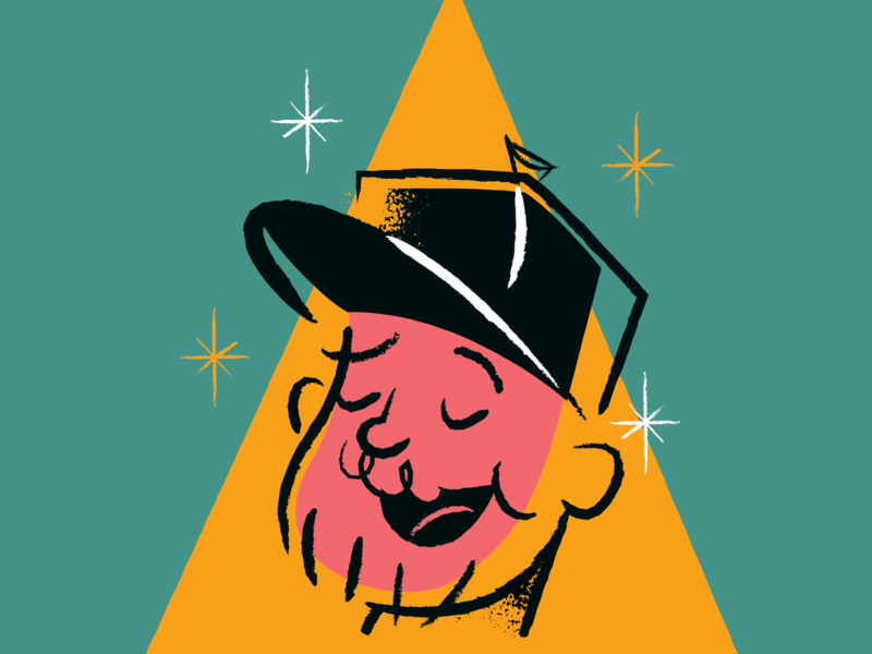 Retro Rogie vector character retro art illustration
