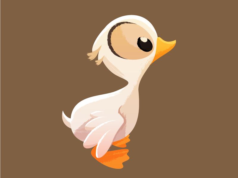 Duckling illustration duck animal texture