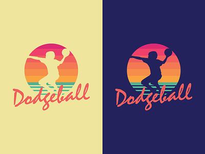 Dodgeball retro 80s dodgeball logo