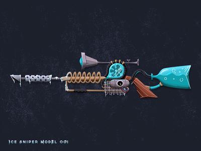 Future52: Ice Sniper sci-fi illustration art gun ice