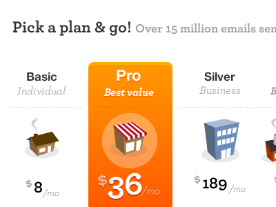 Plans and Pricing by Rogie on Dribbble