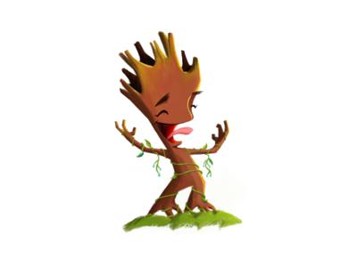 Baby Groot gotg guardians of the galaxy fanart art groot illustration disney