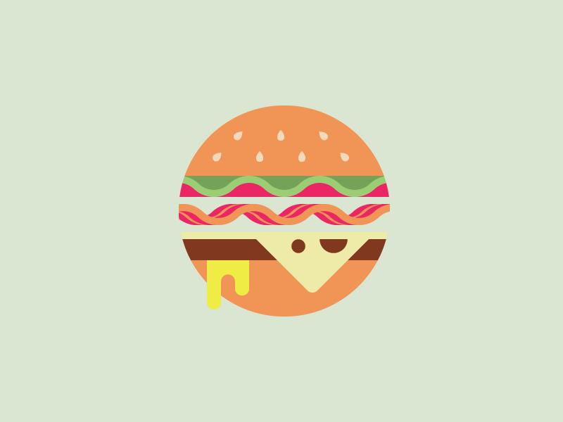 Burger. illustration food burger rogieloves art circle
