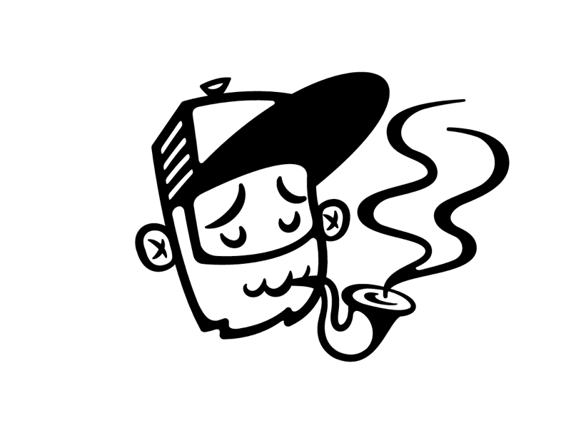 Another year, Another avatar pipe beard illustration avatar