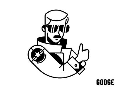 Goose aviator illustration top gun maverick goose