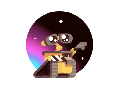 Wall-e robot art illustration disney pixar sci-fi wall-e