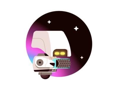 M-O illustration art eve wall•e robot pixar disney