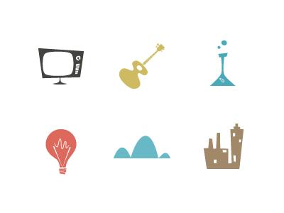 Cocktail icon set iconset whimsical retro illustration
