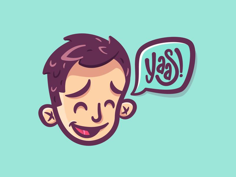YAAAAAAAAAAASSSSS yaaas character illustration art avatar