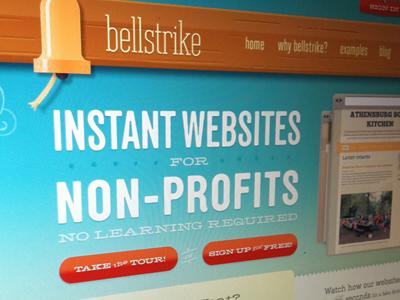 Bellstrike is Live!!! bellstrike non-profit web application wood bell