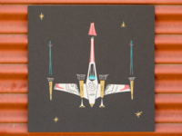 Less than 5 left! X-Wing Fighter Screen Print