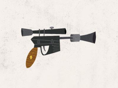 Epic Armory: Weapon 01 blaster star wars han solo han shot first greedo killer illustration gun weapon pistol epicarmory