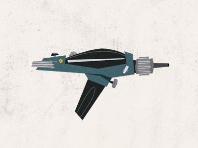Epic Armory: Weapon 05 illustration blue retro star trek phaser kirk epicweaponry epicarmory