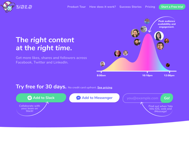 Yala 2.0 front-end css social media bot colorful fun design website