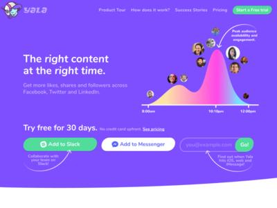 Yala 2.0 front-end css social media bot colorful fun design website