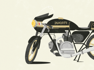 Ducati / 80s Series 80s motorcycle illustration ducati
