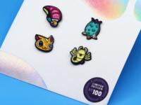 Alien Enamel Pin Pack {Super Team Deluxe}