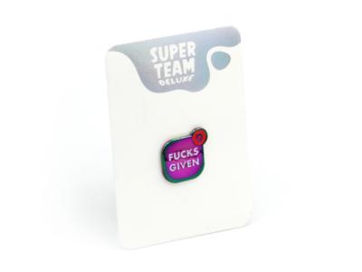 FucksGiven.app (Rainbow Variant) joke design app lapel pin enamel pin