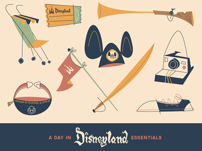 The Essentials of A Day in Disneyland Illustration disneyland mickey mouse illustration disney essentialsof