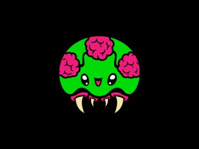 Kawaii Metroid for BFGS rogie king metroid character illustration cute kawaii