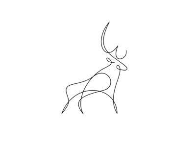 Stag rogie king tattoo art stag deer illustration monoweight