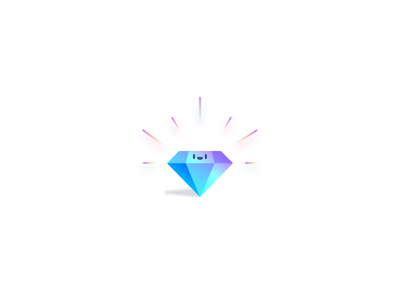 Quality over Quantity gradient diamond character illustration