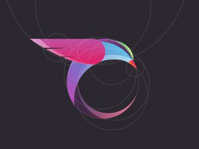 Bird logo concept bird logo magpie tropical