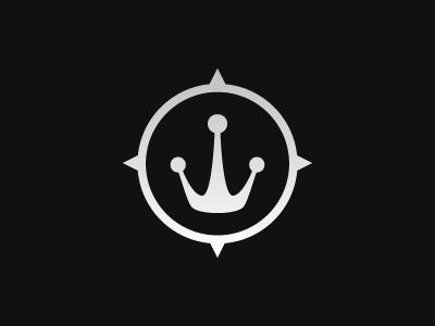 Logo decoste water compass nautical crown logo king
